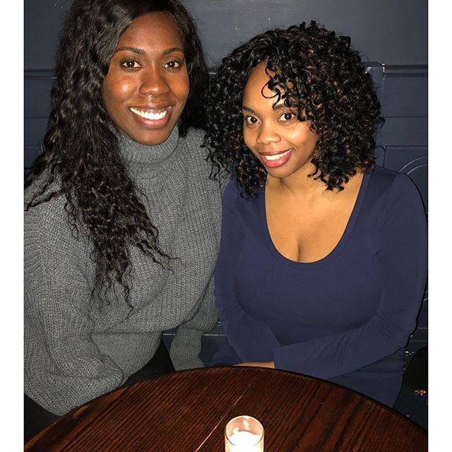 Good times with the lovely @djkrisc. Fifty failed attempts revealed that a stranger was better suited to take our photo. #modernwomen #oldfriends #nyc