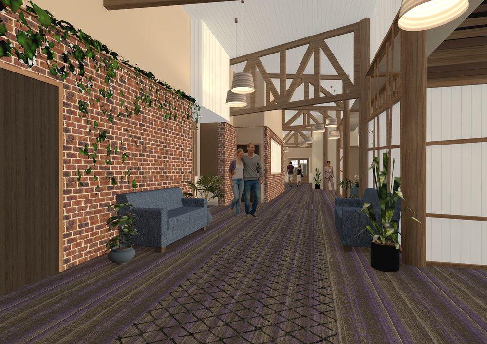 PROPOSED PLAINLAND HOTEL/MOTEL  Architectural Illustration