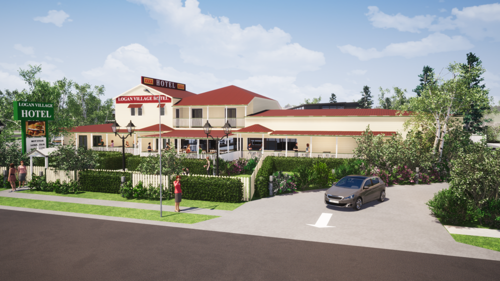 PROPOSED LOGAN VILLAGE HOTEL  Architectural Illustration