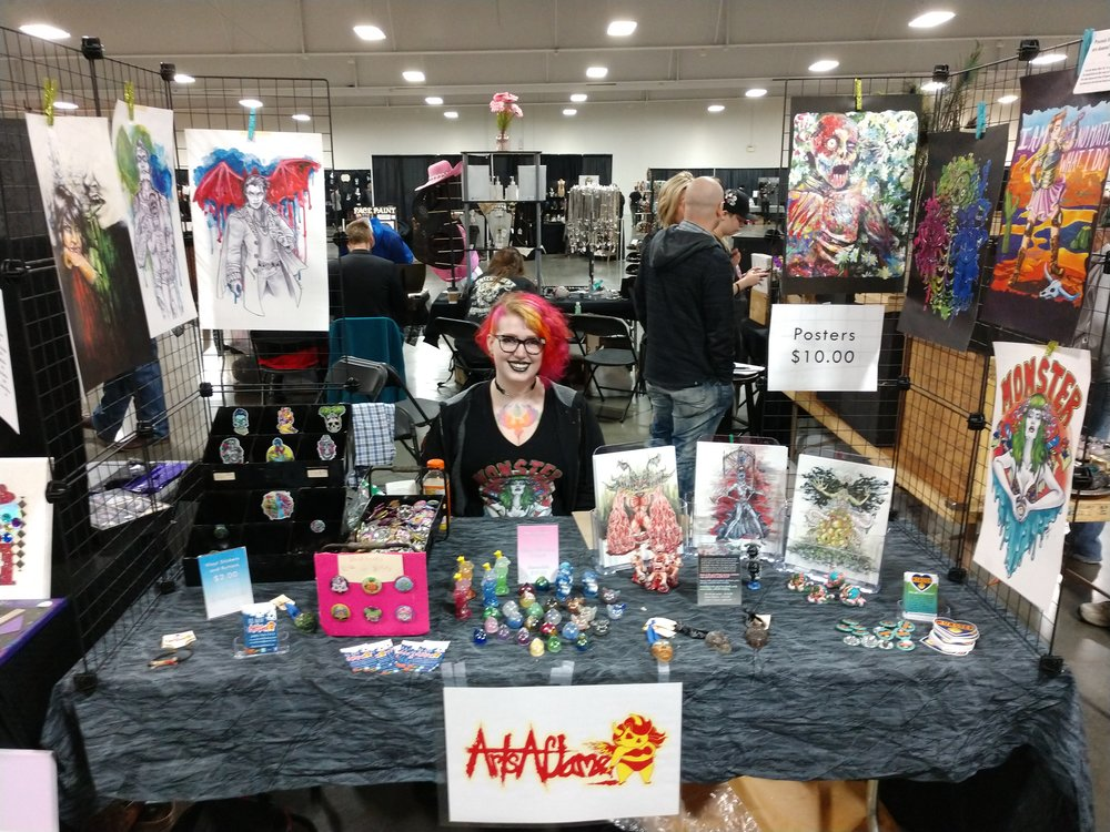 The ArtsAflame Booth