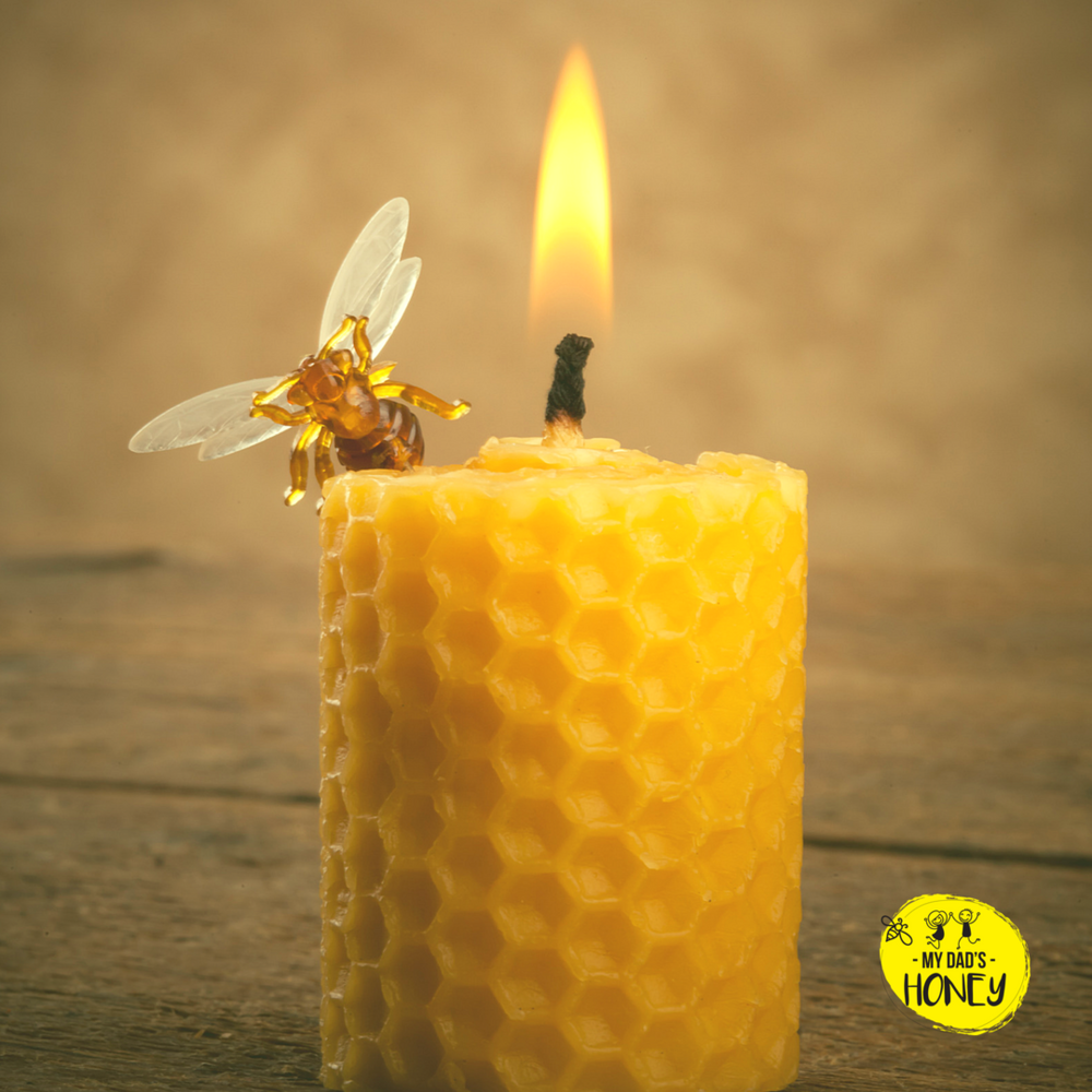 Beeswax Candle | My Dad's Honey Blog