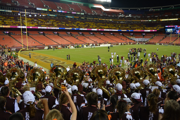 The view from the Marching Virginians' seats at FedEx Field; Source: Robert White