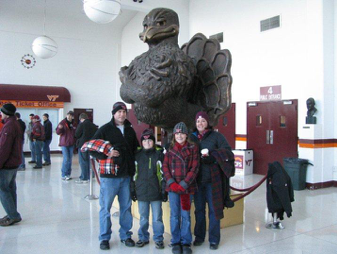 Jordan with her family before the 2009 VT vs UVA game; Source: Beth Downing