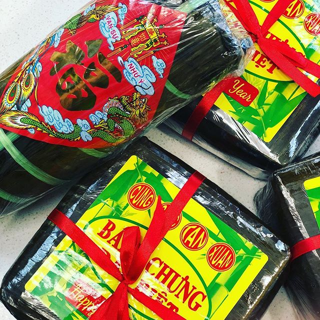 Get it while it lasts! . . . . . . . . #banhchung #banhtet #lunarnewyear #yearofthepig #arizonafoodie #arizonaeats #eatlocal #urbanhcafe #yummy #vietnamesenewyears #banhmi