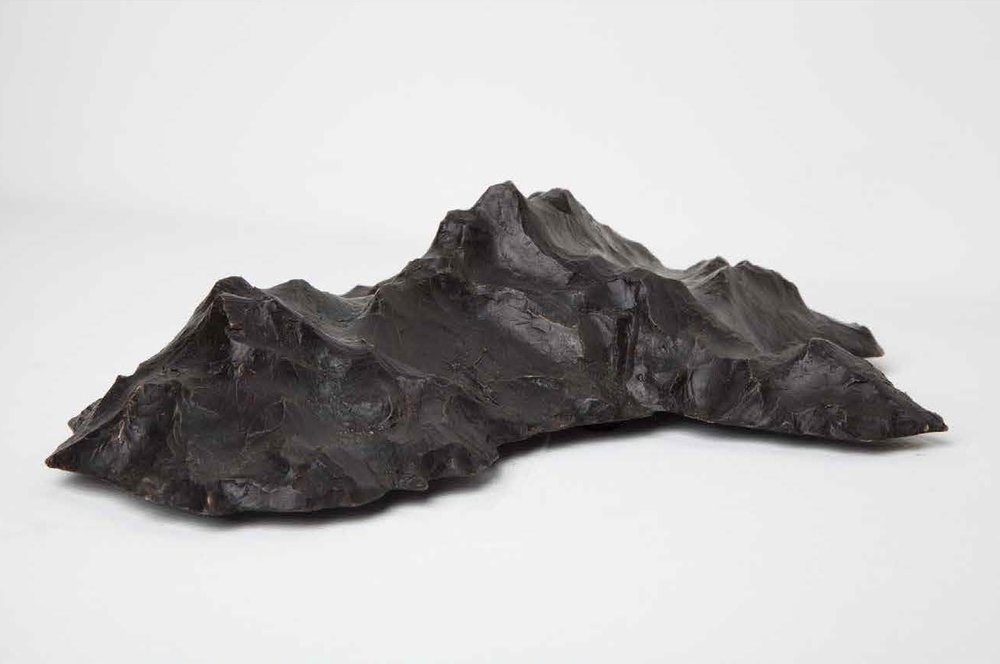 New Hypothetical Continents  (maquette), bronze, edition of 5, 26x20.5x8cm - Artist: Lucas Maddock (2014)