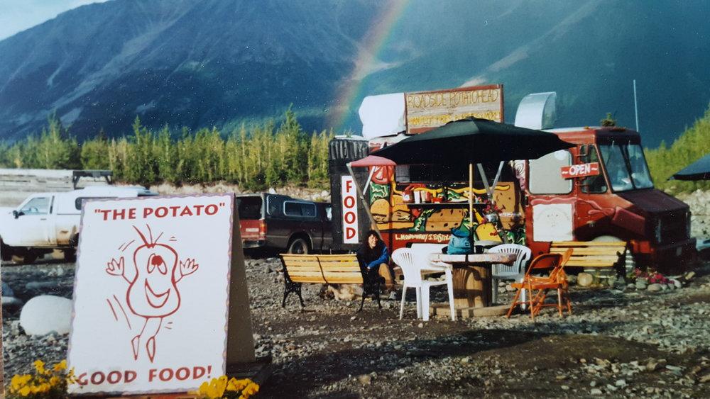 Roadside Potatohead on the west side of the Kennicott River, 1998