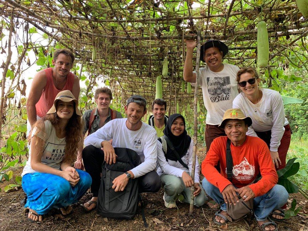 Milene & the ReNature team visiting a farm