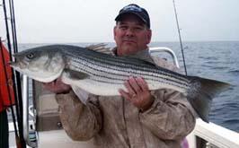 Beautiful Striper fly fishing Rhode Island.