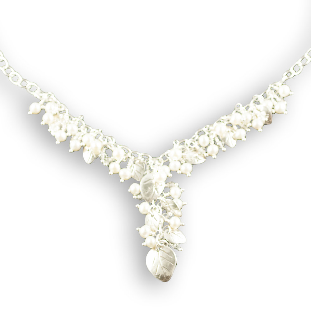 foglia bridal leaf and pearl Y necklace.jpg