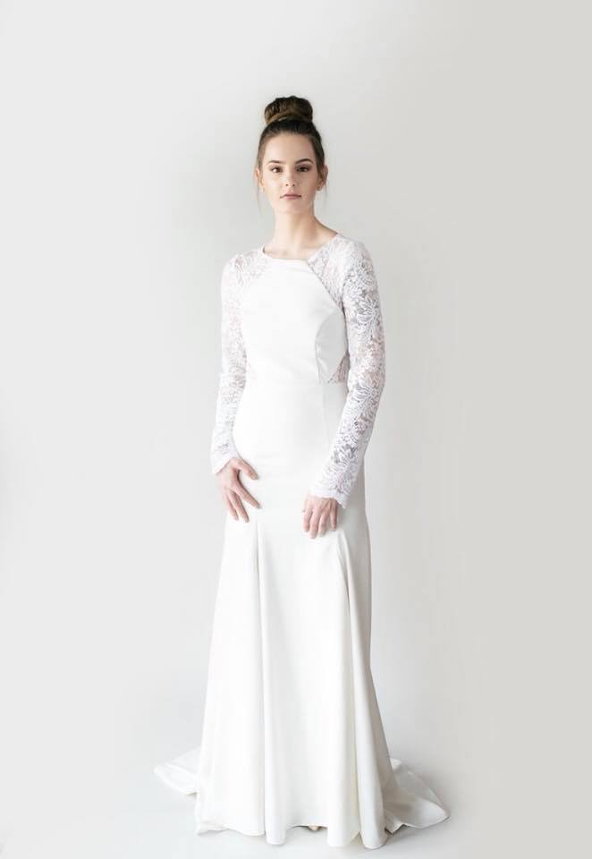 hyacinth bridal gown minimal wedding