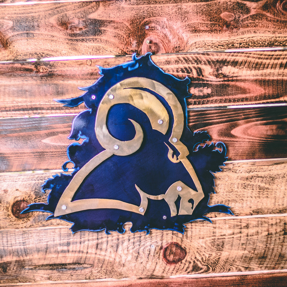 Rams wall art