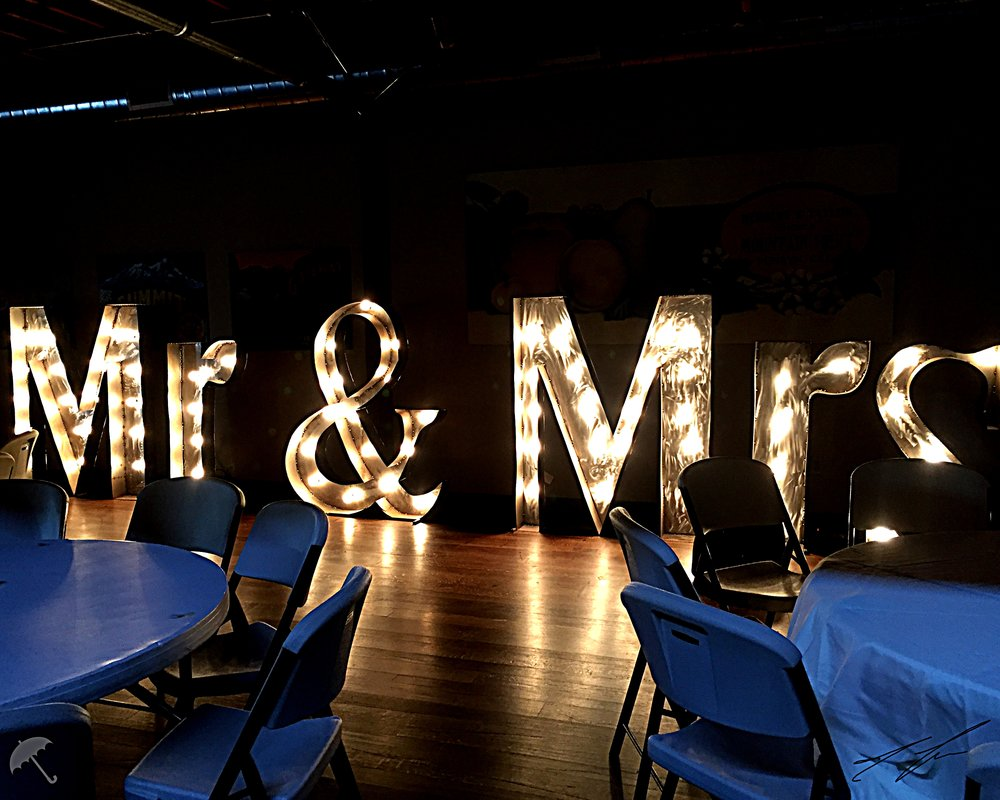 wedding venue marquee letters
