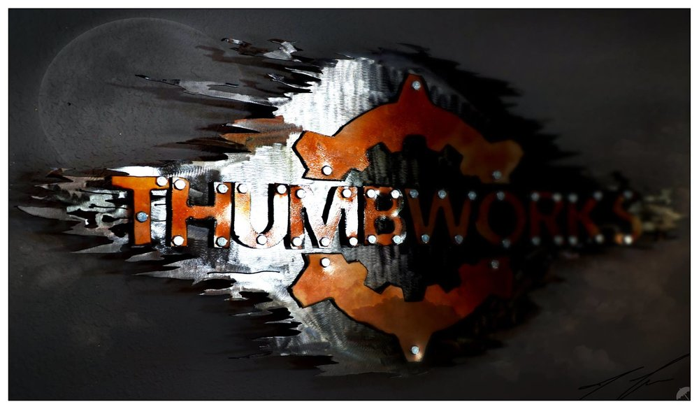 Thumbworks logo sign we did.