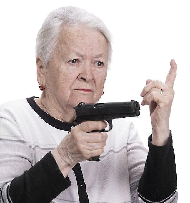 Elderly & guns -