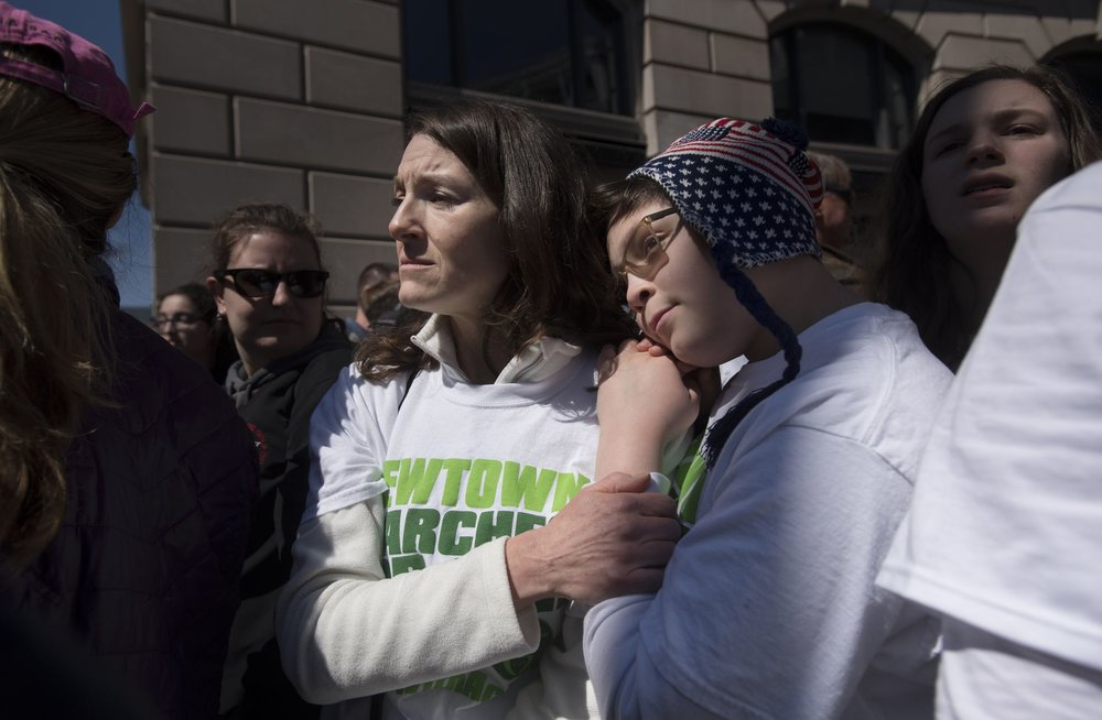 Joseph Soriano, 12, who was a first-grader at Sandy Hook Elementary School in 2012 when a gunman killed 26 people, attended the March for Our Lives rally in Washington, D.C., with his mother on Saturday.  FRED LUM/THE GLOBE AND MAIL