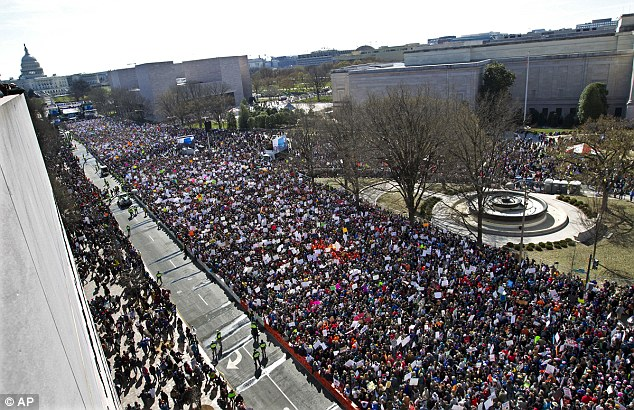 More than 800 March For Our Lives events were held around the world on Saturday