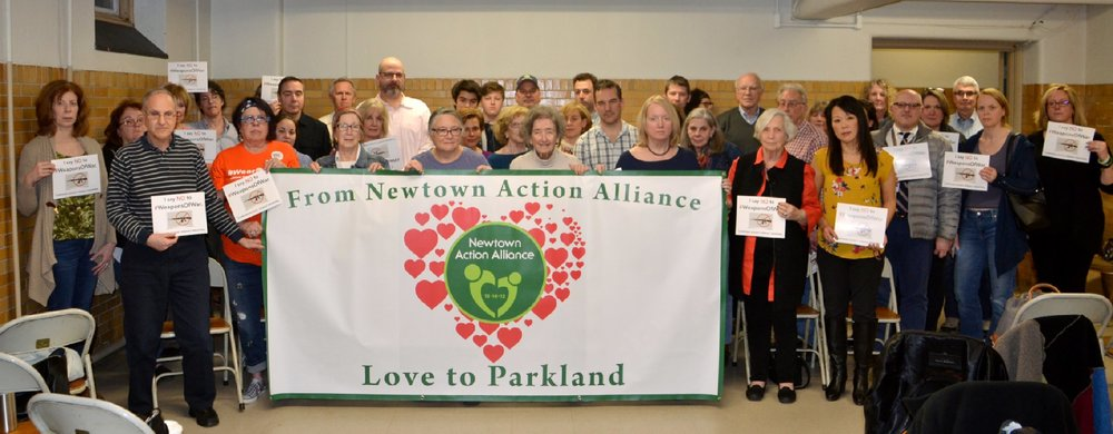 On February 21, local residents attended Newtown Action Alliance's public meeting at Edmond Town Hall to show their support for the Parkland, Fla., community after the Marjory Stoneman Douglas High School shooting on February 14. (Bee Photo, Silber)