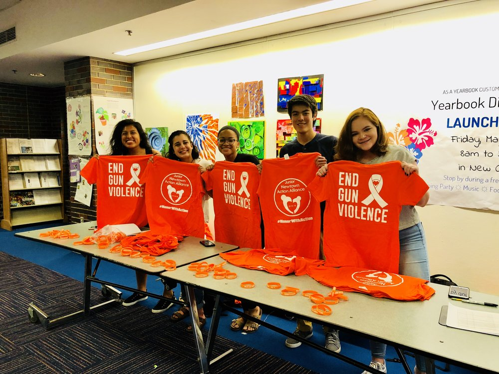 2018 #WearOrange National Gun Violence Awareness Day at Newtown High School