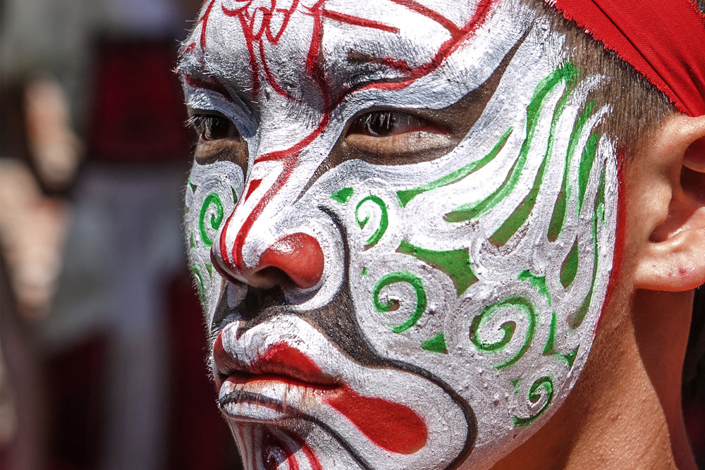 Matsu Temple Face Paint Warrior