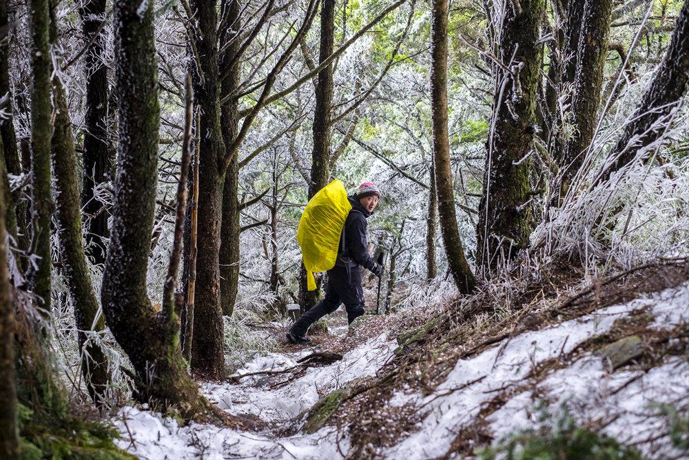 Hiking Nanhu Mountain in Winter