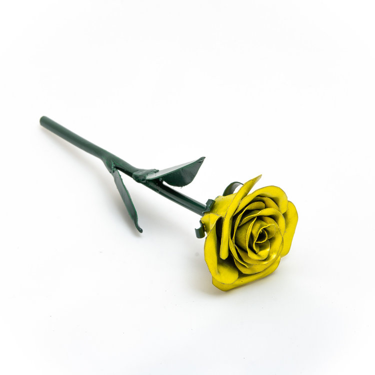 Mini Yellow Rose Royal Metal Arts