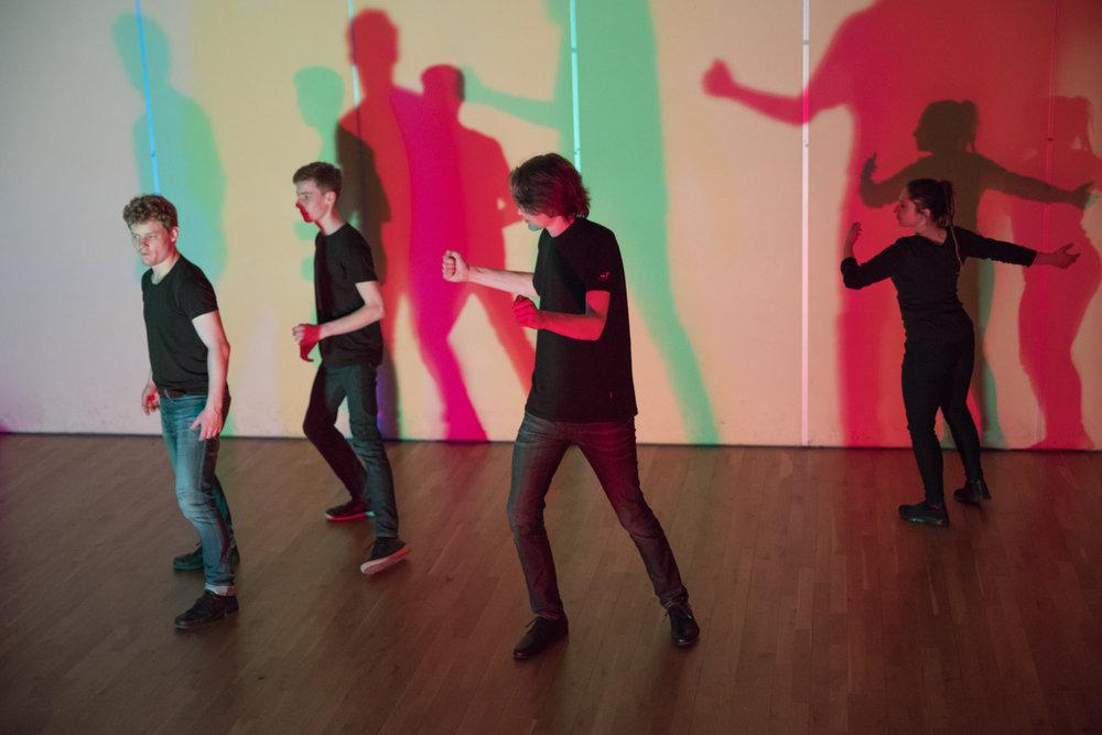 Springar med Simon, Jon Sivert, Ola og Gelvin. Foto: Geir Olaf Gjerden