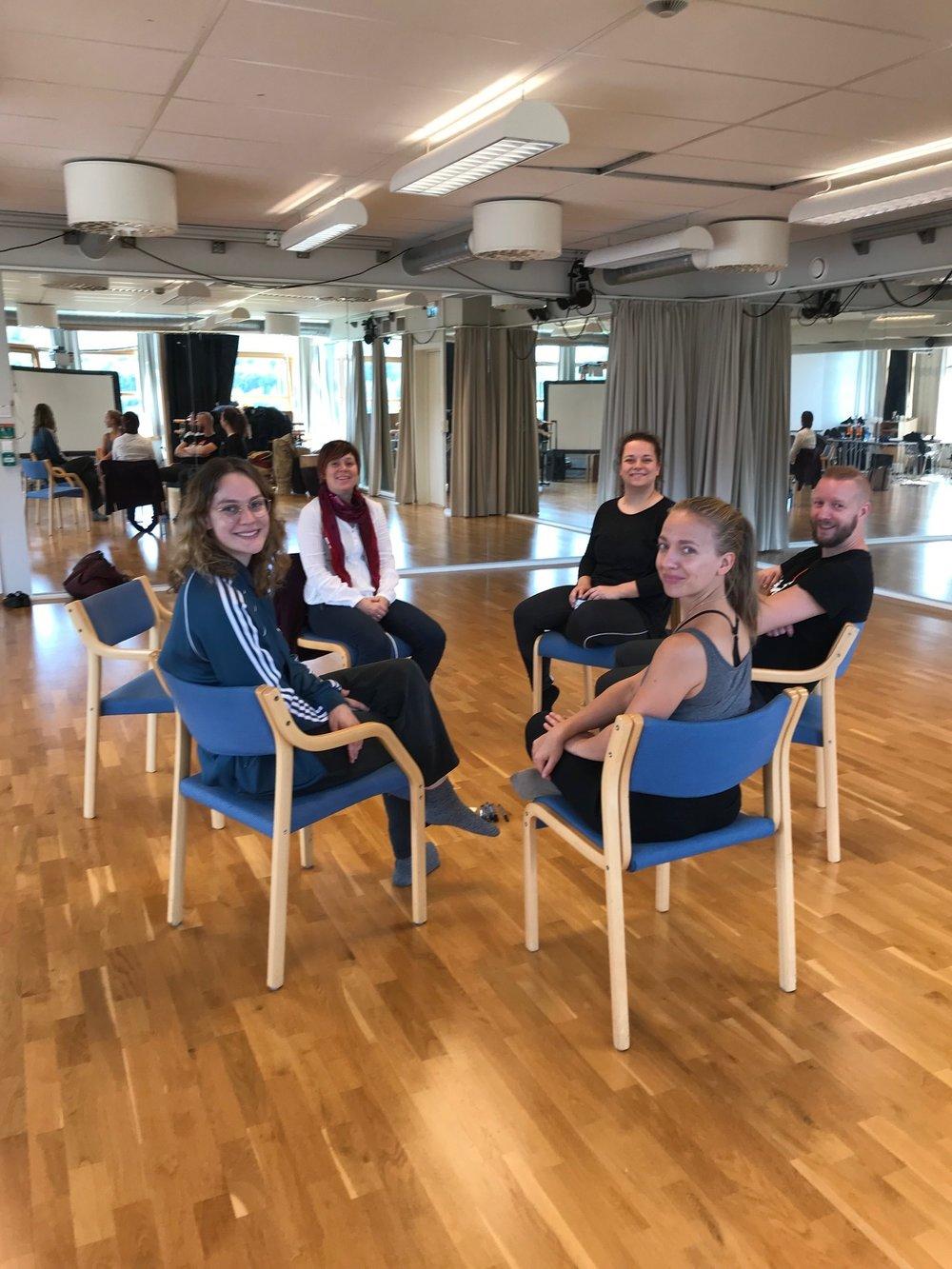 Fra venstre: Dina, Siri, Elisabeth, Sigurd og Tuva