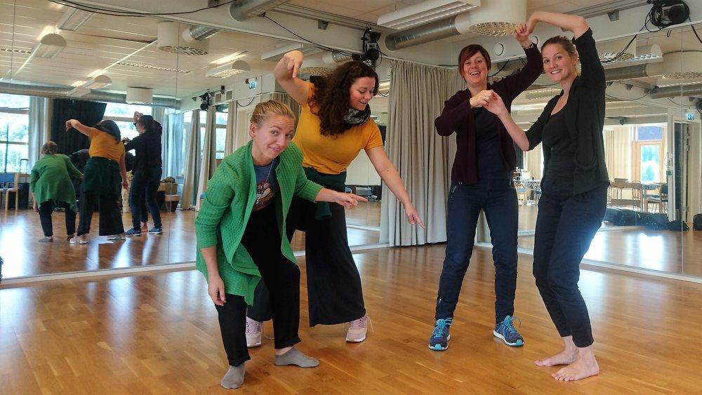 Fra venstre: Tuva, Elisabeth, Siri og Stine