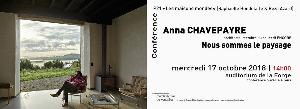 Conférence à l'école d'Architecture de Versailles. -