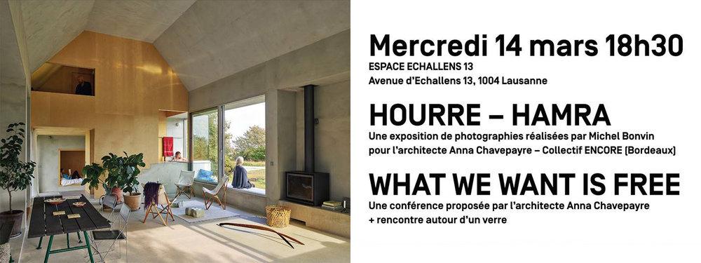 Exposition & conférence en collaboration avec Michel Bonvin. -