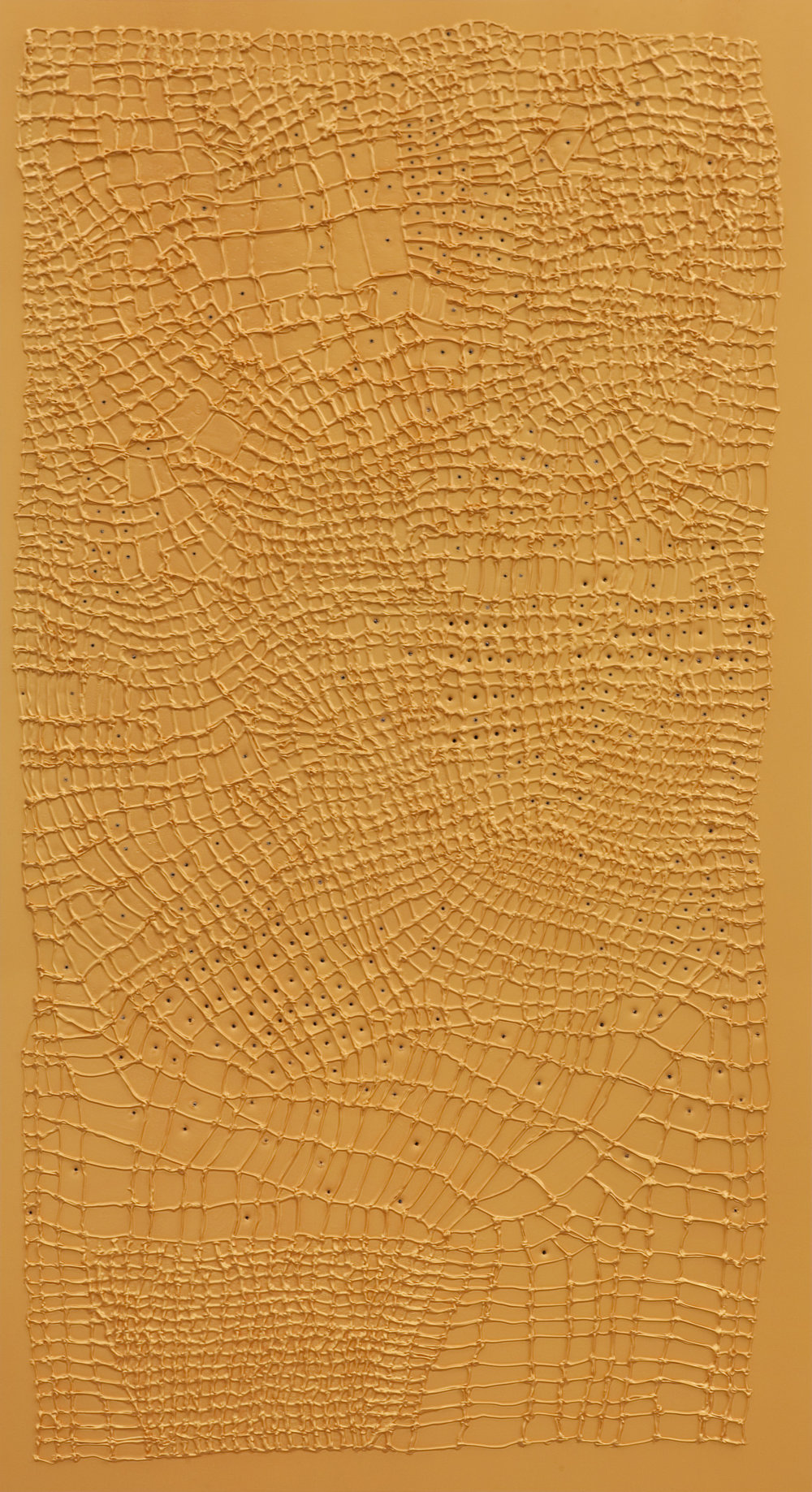 Handmade # 8. 2011.  Acrylic on alucore. 220 x 120 x 3,5 cm.