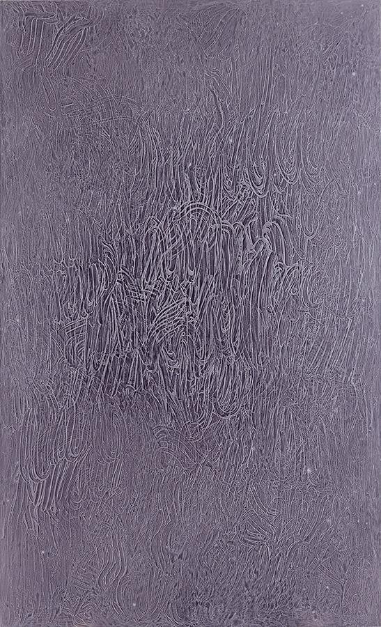 Fingerprint # 2. 2014. Acrylic on alucore. 208x125 cm.