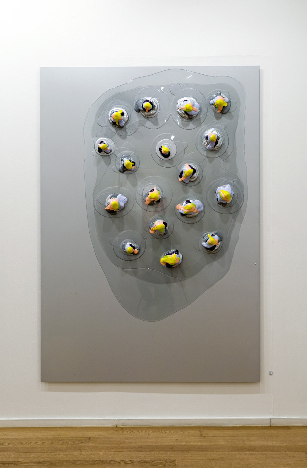 Smack . 2005. Lacquer and epoxy on aluminium. 180 x 125 cm.