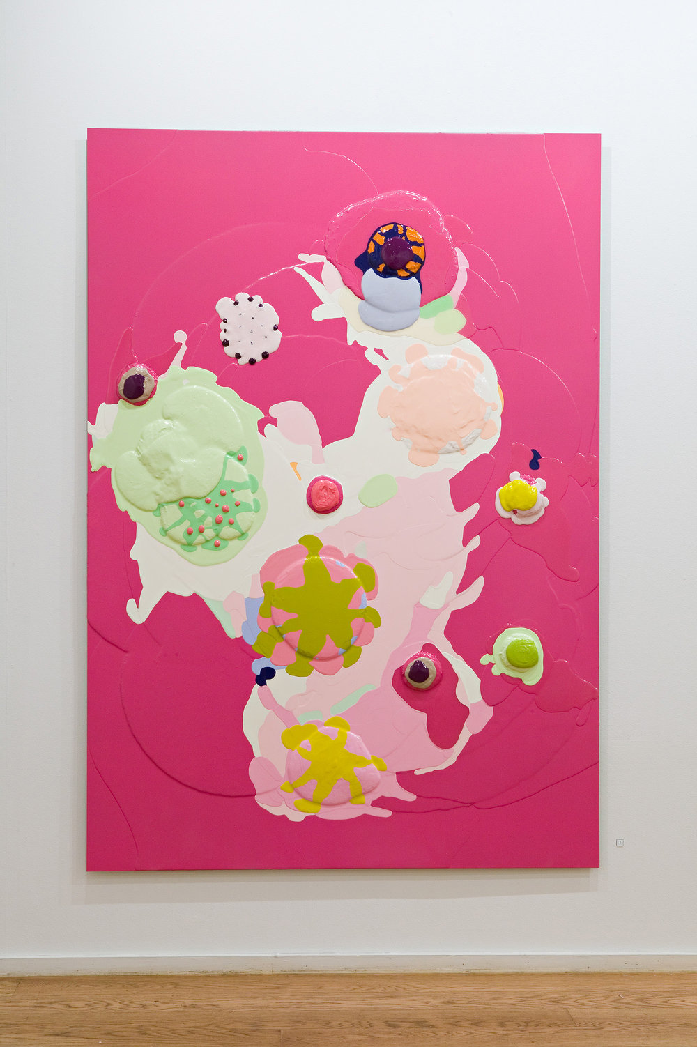 Happy Birthday Jack . 2005. Lacquer and epoxy on aluminium. 180 x 125 cm.
