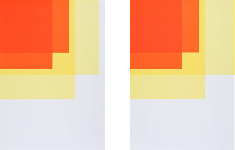 Collecting Colors (Orange/Yellow I + II), 2016. Silkscreen print 100 x 70 cm. Ed. 4