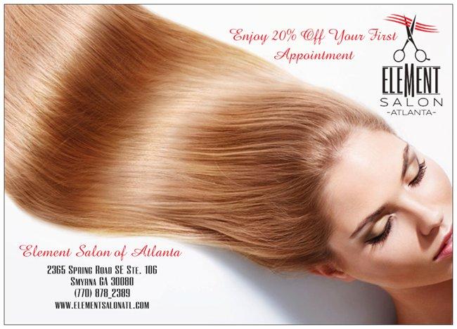 No More Bad Hair Days Element Salon Of Atlanta