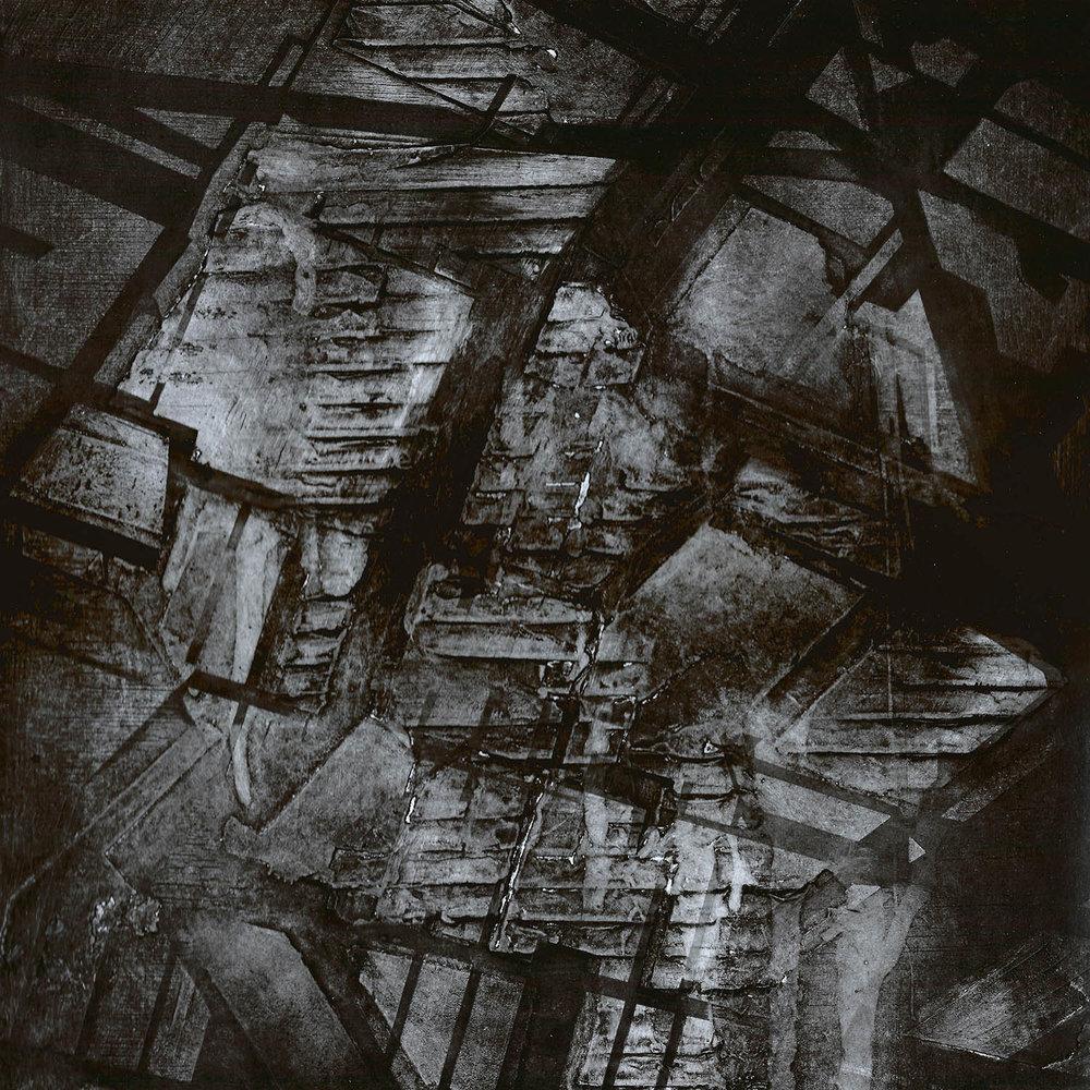 BROKEN LANDSCAPE, 2015  Collagraph and block print