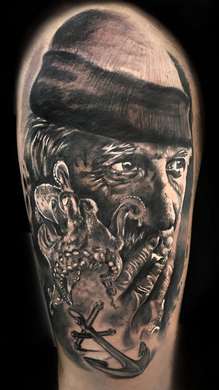Tatuajes Realistas El Mar 1ª Parte Angel De Mayo Tattoo