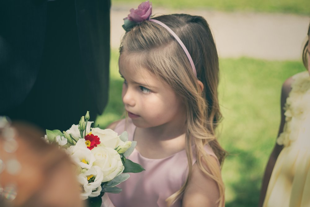 Flower girl, wedding, Miskin Manor