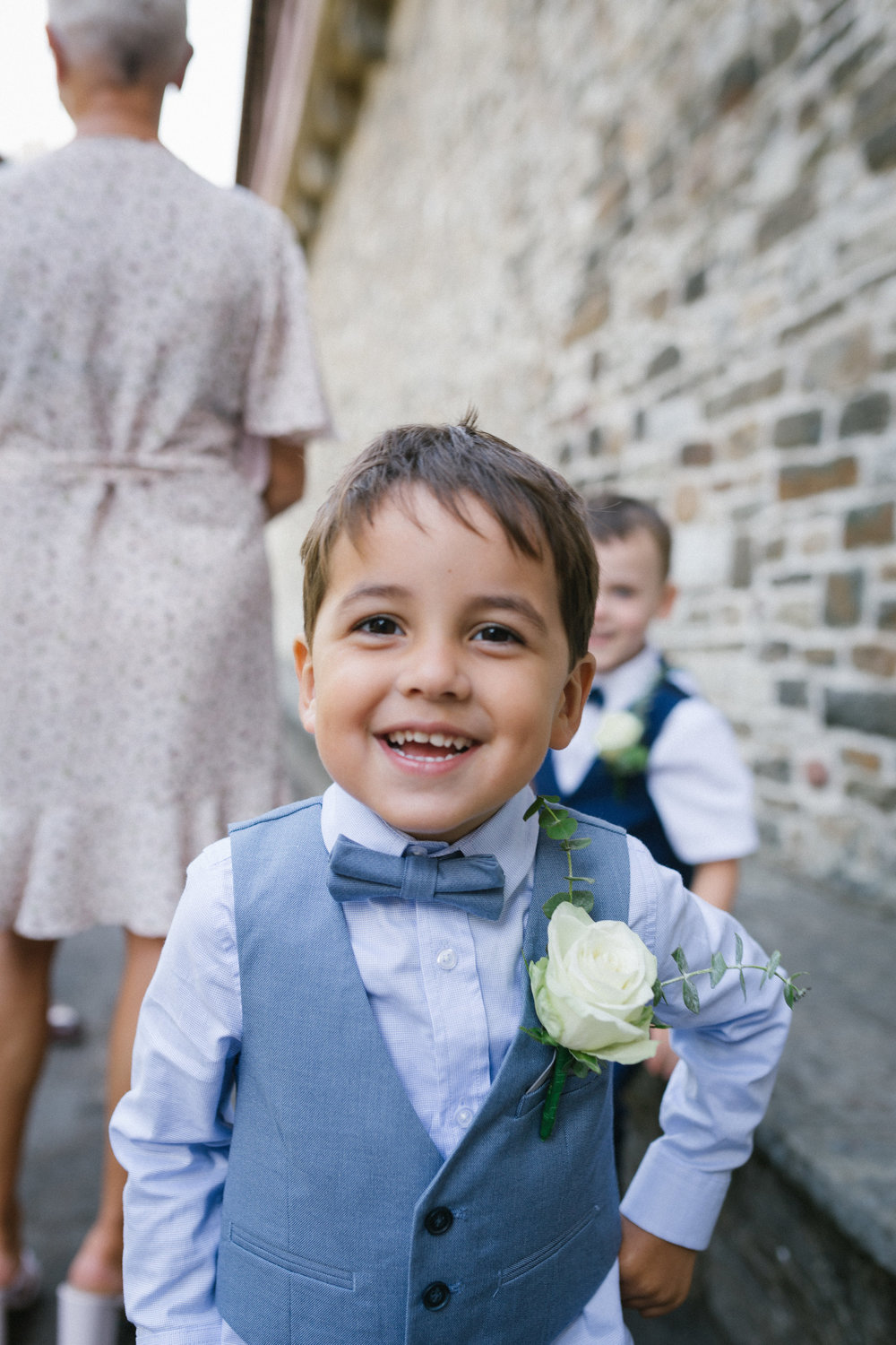 Page boy at wedding