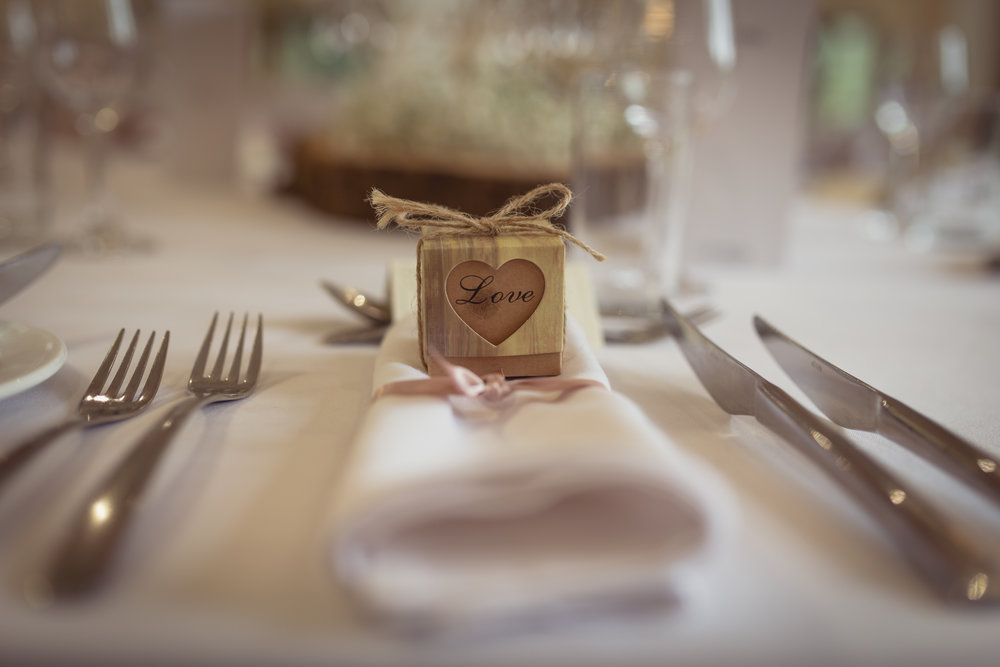 Close up photograph of the table decorations