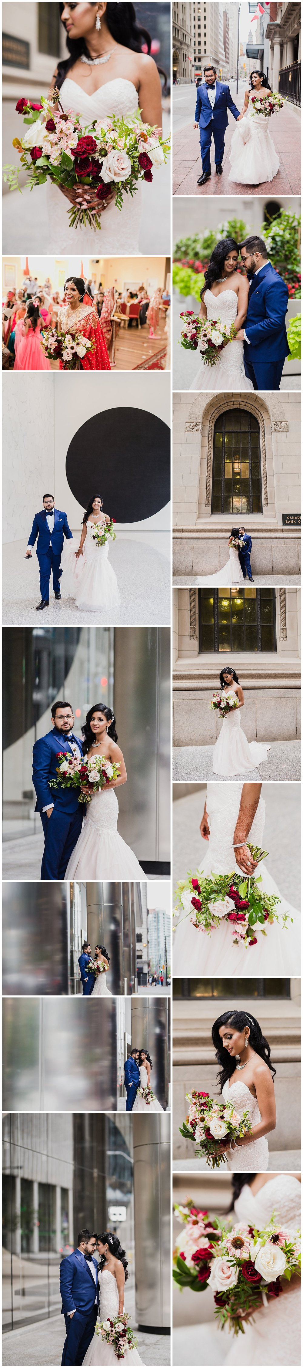 rikki marcone events flowers florist bouquet toronto wedding eglinton grand financial district bridal top best decor burgundy pink