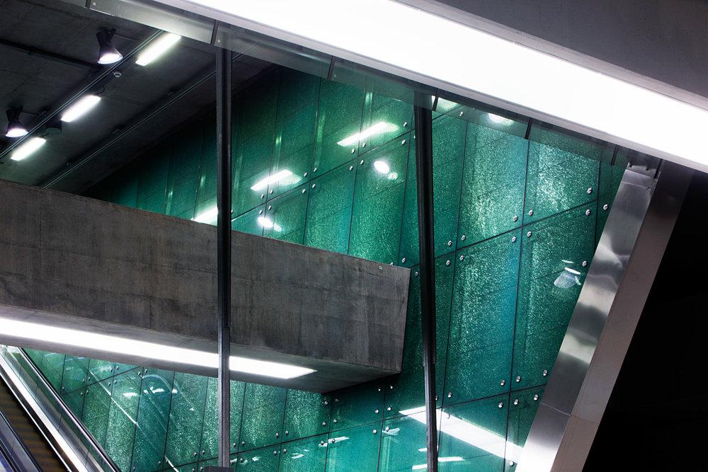 Budapest Metro Line 4 - RIBA Awards for International Excellence winnerBocskai ut, Kalvin-ter, Bikas Park and Kelenfold Stations