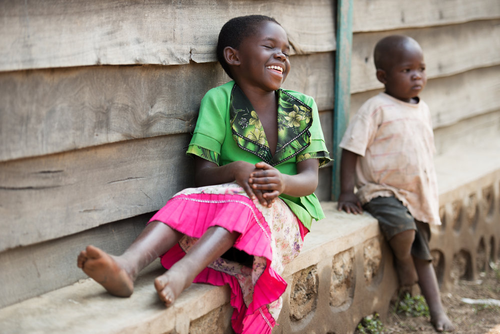 Rehema is happy after receiving surgery to treat her clubfeet.