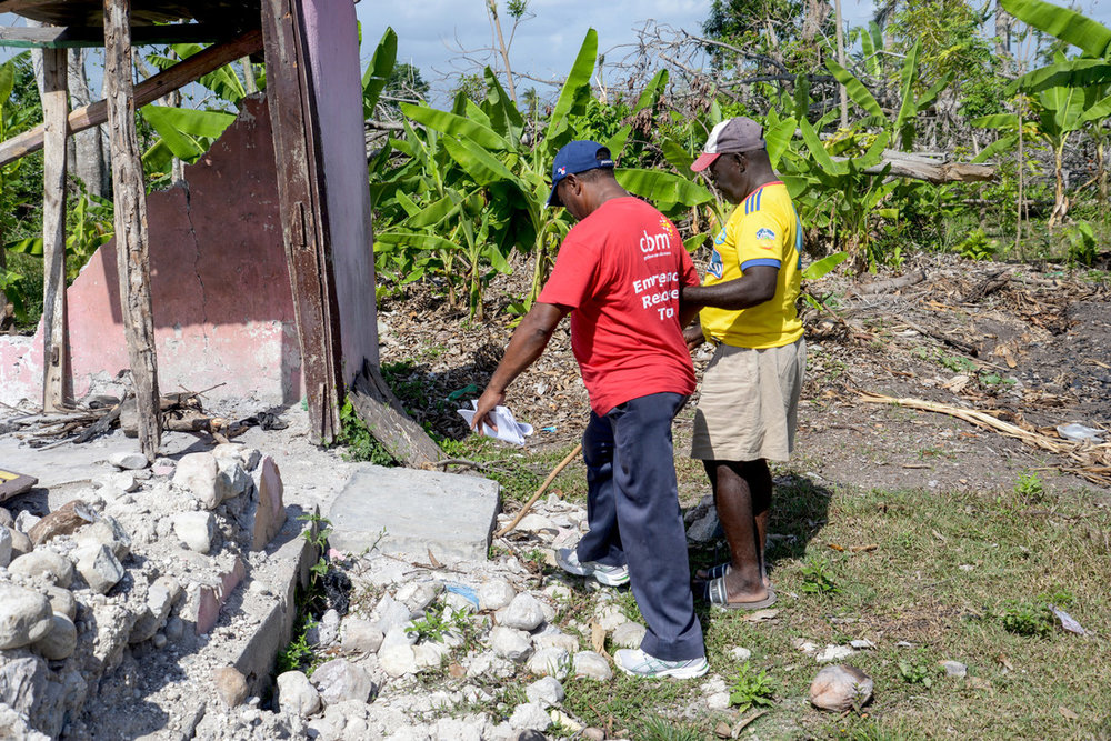 CBM Emergency response team investigates damage after the hurricane