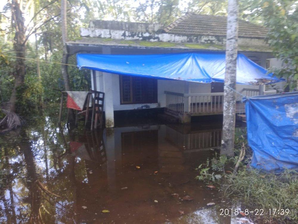 Flood devastation in Kottayam, surveyed by CBM India staff.