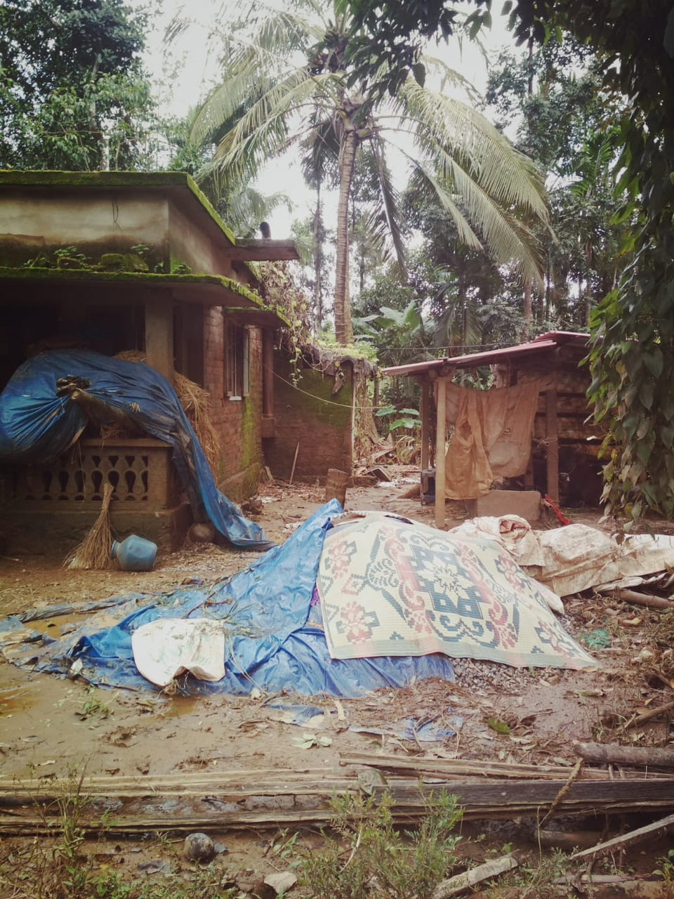 Flood devastation in Kottayam, surveyed by CBM India staff.