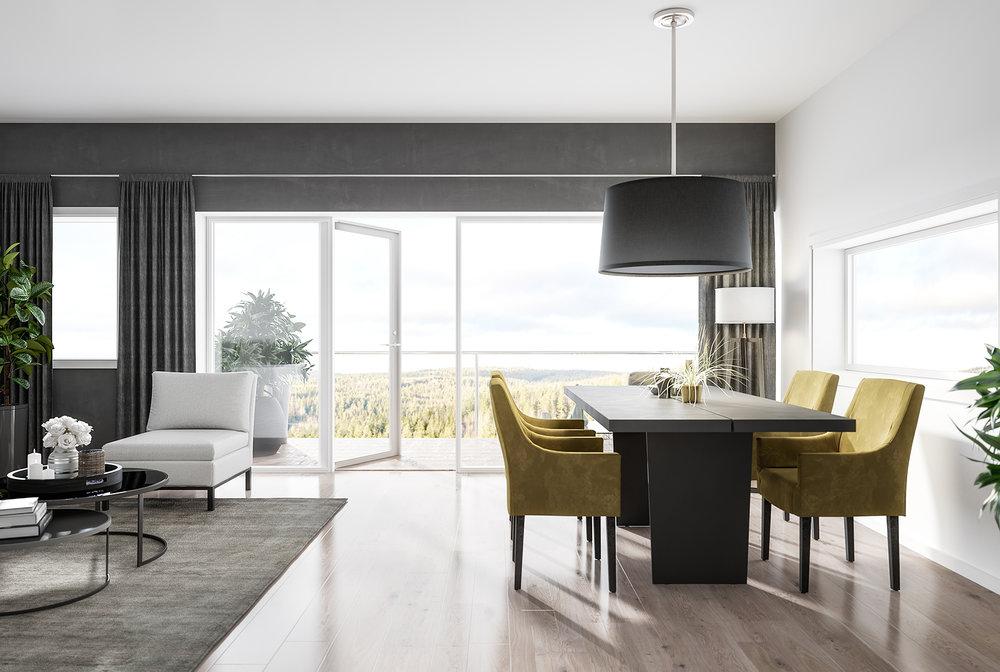 Leiligheter som passer for enhver smak og behov. - Les mer om våre flotte 2-, 3-, 4- og 5-roms leiligheter med balkonger og vakker utsikt.