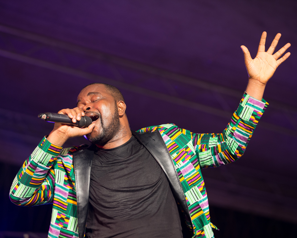 David Tayorault, one of Cote d'Ivoire's most popular singers wove rhythms from across the continent into his set at the 2018 MASA festival in Abidjan.
