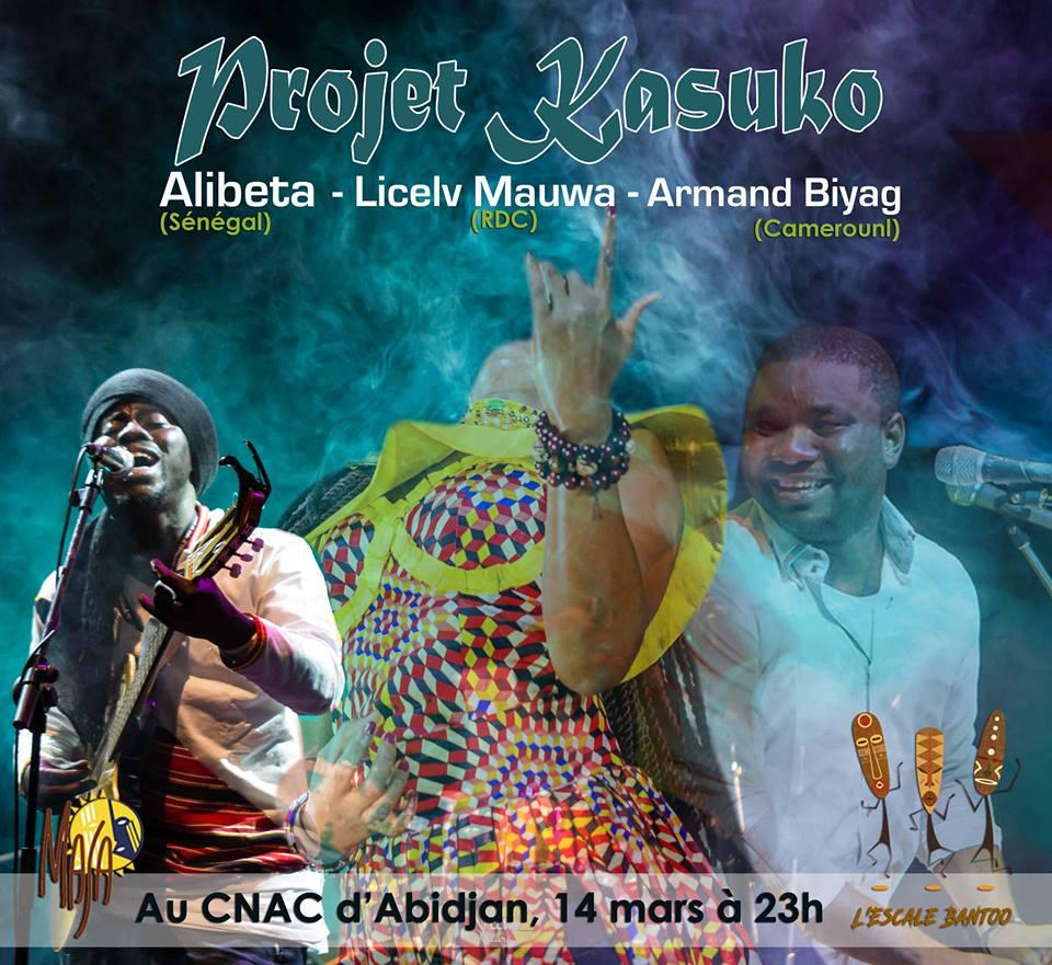 Escale Bantoo colaboration Projet Kasuko : Alibeta, Lcelv Mauwa and Armand Biyag